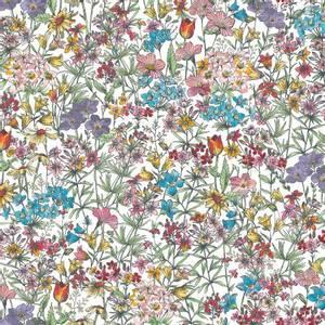 Bilde av Bomullstoff White Small Packed Flower