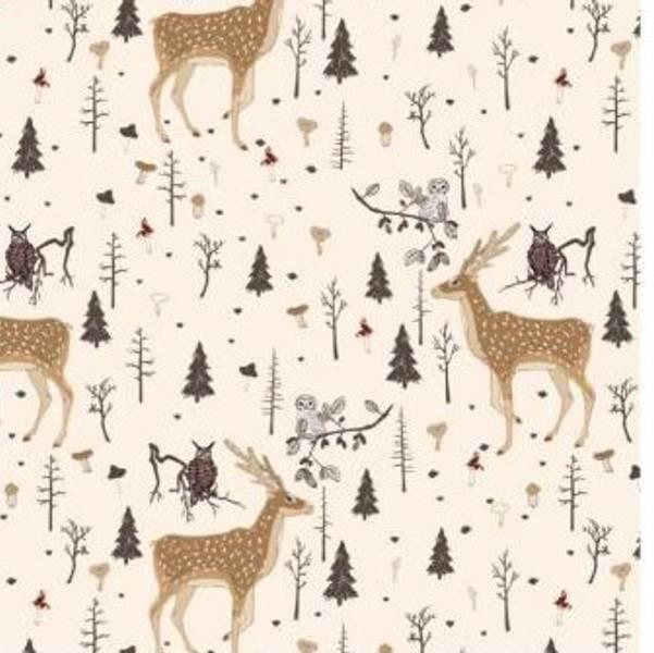 Bomullsjersey reinsdyr og ugler