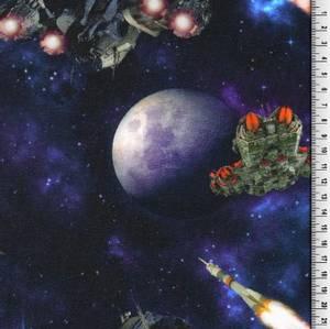 Bilde av BomullJersey med planeter