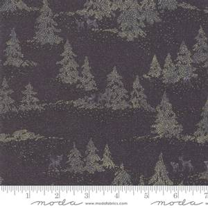 Bilde av Moda Fabrics Forest Frost Glitter Night Black