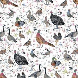 Bilde av bomullstoff White Bird Season fugler